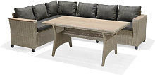 Conjunto de sofá y mesa de jardín Turín