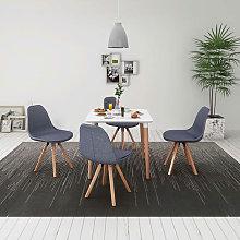 Conjunto deesa de comedor y sillas 5 uds blanco y