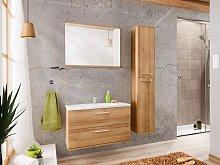 Conjunto KAYLA - muebles de baño - efecto madera