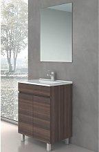 Conjunto LUUP, Mueble de lavabo 60cm y espejo TEA