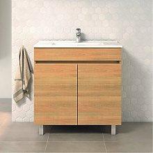 Conjunto LUUP, Mueble de lavabo 80cm y espejo HERA