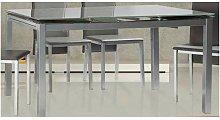 Conjunto mesa 2 colores y 4 sillas aida grises