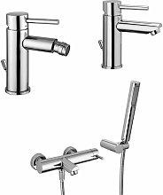 Conjunto mezclador para lavabo - bidé y bañera