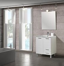 Conjunto Mueble de Baño 70 cm Seven Blanco - 2