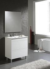 Conjunto Mueble de Baño 80 cm Push Blanco/Blanco