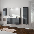 Conjunto mueble de baño Box suspendido 4 puertas