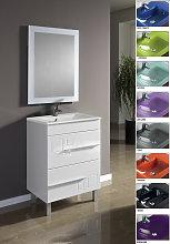 Conjunto Mueble de Baño CLAUDIA 60 CM Blanco,