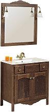 Conjunto mueble de baño con lavabo y espejo de