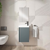 Conjunto mueble de baño de fondo reducido 22 cm
