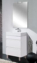 Conjunto mueble de baño fondo reducido 32 cm Inve