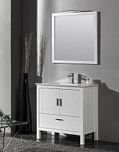Conjunto mueble de baño Giralda blanco + lavabo +