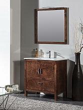 Conjunto mueble de baño Giralda nogal + lavabo +