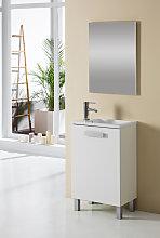 Conjunto Mueble de Baño KIT 50 cm Mini Blanco - 1