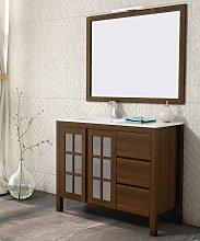 Conjunto mueble de baño Marga nogal 100 cm +