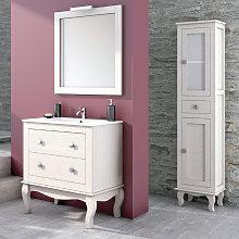 Conjunto mueble de baño Miro blanco roto + lavabo
