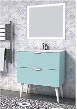 Conjunto mueble de baño Nórdico menta mate 2