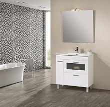 Conjunto Mueble de Baño Nova 80 cm Blanco -Espejo