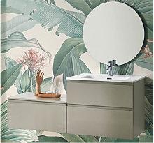 Conjunto mueble de baño taupe brillo 140 cm Nice