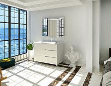 Conjunto Quim de mueble de ba?o con espejo y