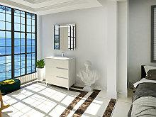 Conjunto Quim de mueble de bańo con espejo y