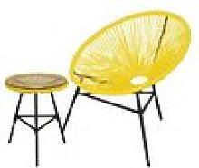 Conjunto silla y mesa acapulco amarilla - Kiefer