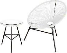 Conjunto silla y mesa acapulco blanca - Kiefer