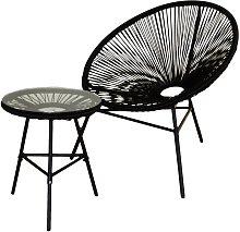 Conjunto silla y mesa acapulco negra - Kiefer