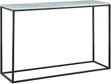 Consola design ARETHA - Mármol y metal - Blanco y