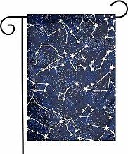 Constelación de la ducha de meteoros banderas de
