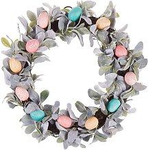 Corona de Pascua para puerta multicolor ⌀50 cm