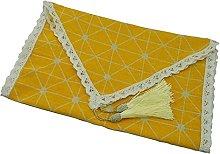 Corredores de mesa Limón amarillo lino algodón