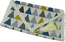 Corredores de mesa Lino de algodón Lace Tassel