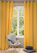 Cortina de lino lavado amarillo 130x300 - la unidad