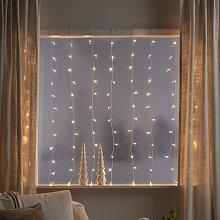 Cortina de luces LED, 120 luces, blanco cálido