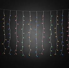 Cortina de luces LED con globos colores 400 luces