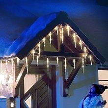 Cortina LED 32 Carámbanos blanco cálido 7,75m