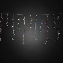 Cortina LED Lluvia helada, colores, 200 luces