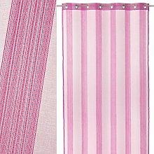 Cortina visillo rosa de microfibra de 260x140 cm