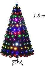 Costway 1 8m Árbol de Navidad Artificial con