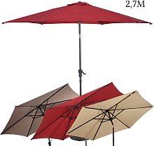 Costway 2 7m Sombrilla Parasol de con Bielas y
