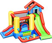 Costway Castillo Hinchable Casa Inflable 7 en 1
