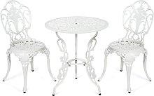 Costway Equipo de 2 sillas y 1 mesa con Hoyo para
