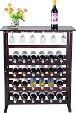 Costway Estante de Vino para 24 Botellas Botellero