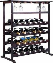Costway - Estante de Vino para 24 Botellas