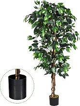 Costway Ficus Artificial con Maceta 1008 Hojas y