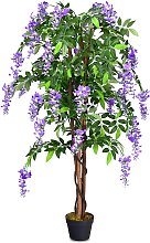 Costway Flor de árbol de glicina artificial 150