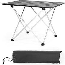 Costway Mesa de Camping Plegable de Aluminio  con