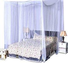 Costway Mosquitera de cama rectangular Cortinas de