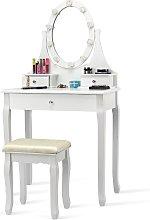 Costway Mueble de maquillaje con 3 cajones Mesa