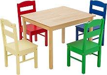 Costway Mueble para Niños Mesa y 4 Sillas de